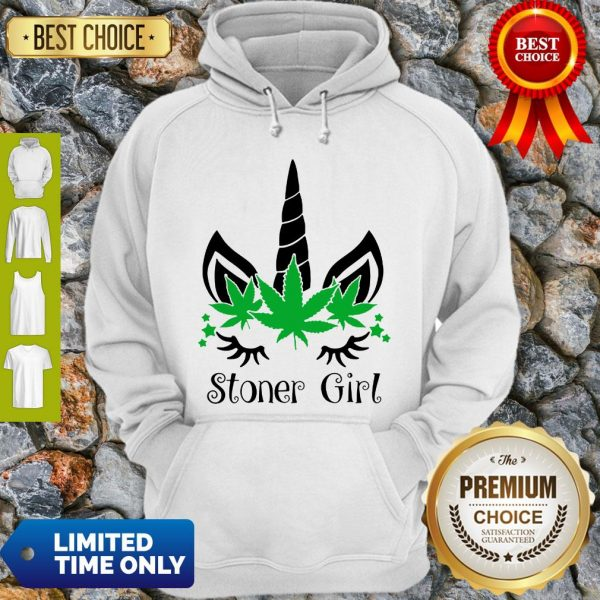 Unicorn Cannabis Marijuana Stoner Girl Hoodie