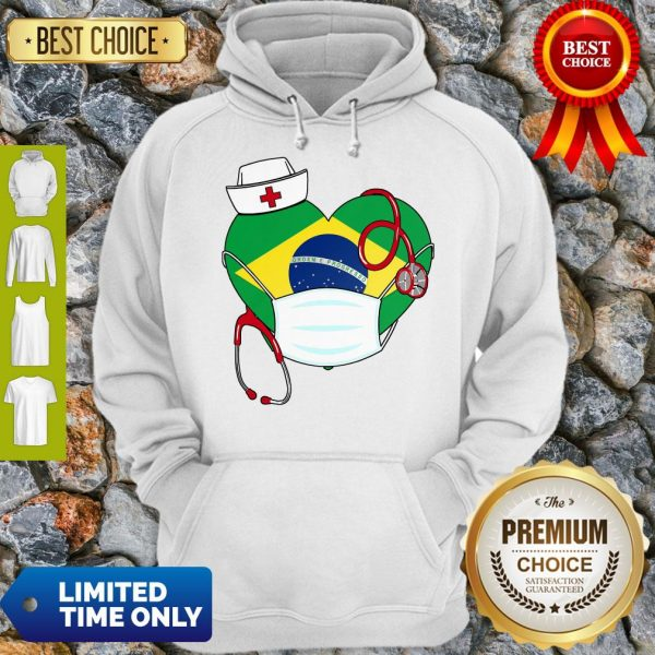 Official Nurse Brazil Heart Hoodie