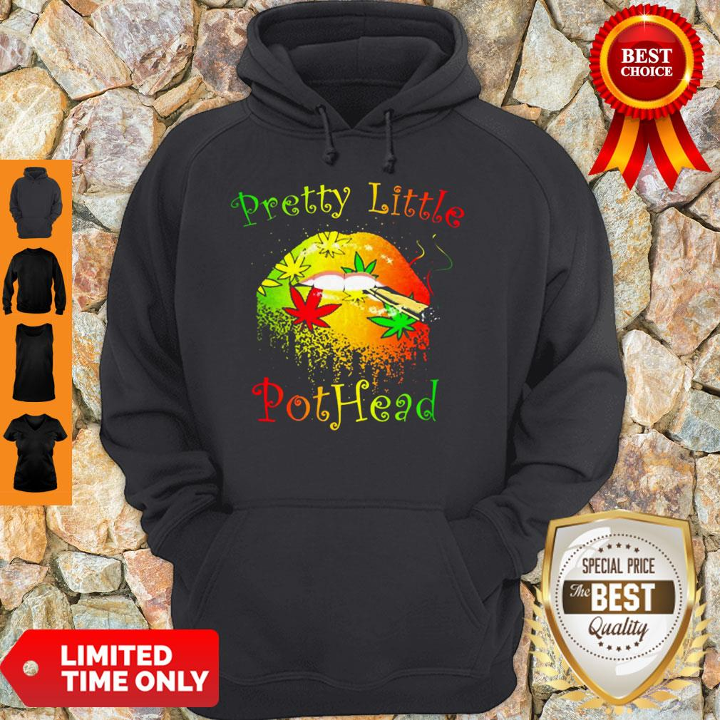 Official Cannabis Lips Pretty Little Pothead Hoodie