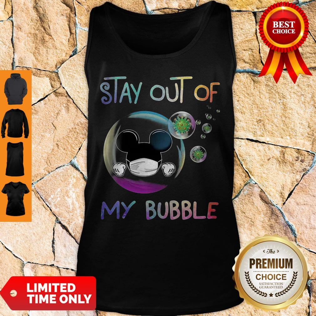 Mickey Mouse Mask Stay Out Of My Bubble Coronavirus Tank Top
