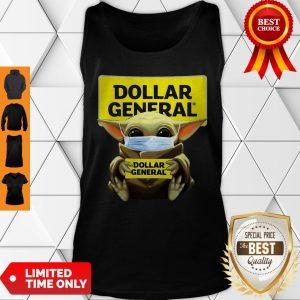 Baby Yoda Hug Dollar General Logo Star Wars Tank Top