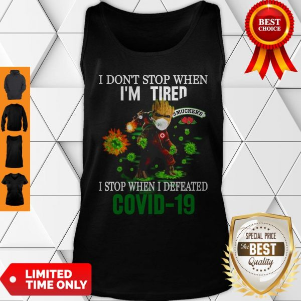 Smucker's Baby Groot I Stop When I Defeated COVID-19 Tank Top