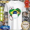 Official Nurse Brazil Heart V-neck