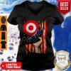 Target American Flag Independence Day V-Neck