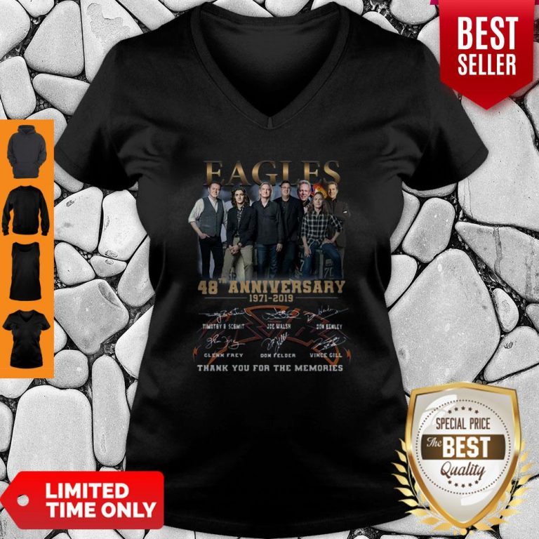 Eagles 49th Anniversary 1971 2020 Signature Thank You For The Memories V-Neck