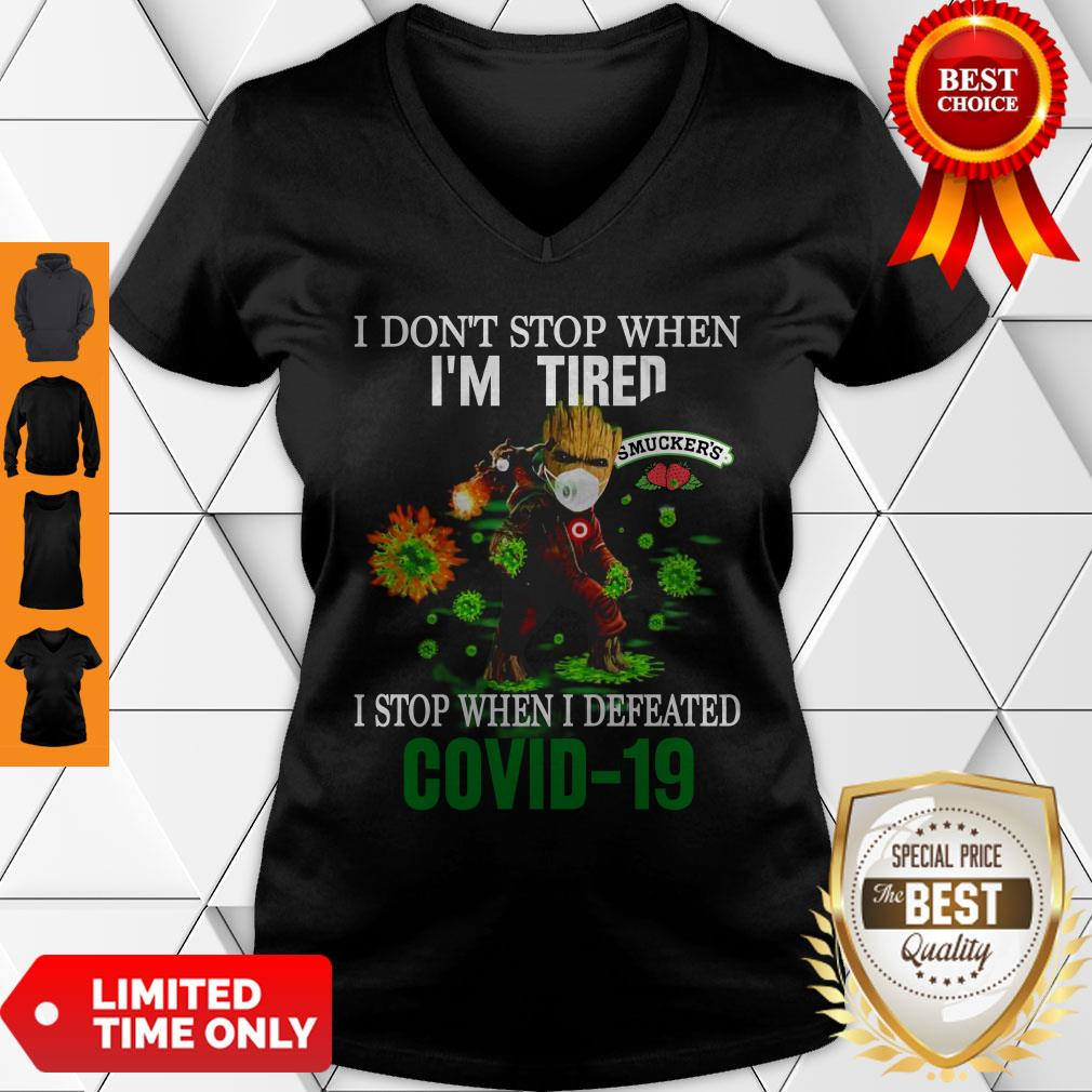 Smucker's Baby Groot I Stop When I Defeated COVID-19 V-Neck