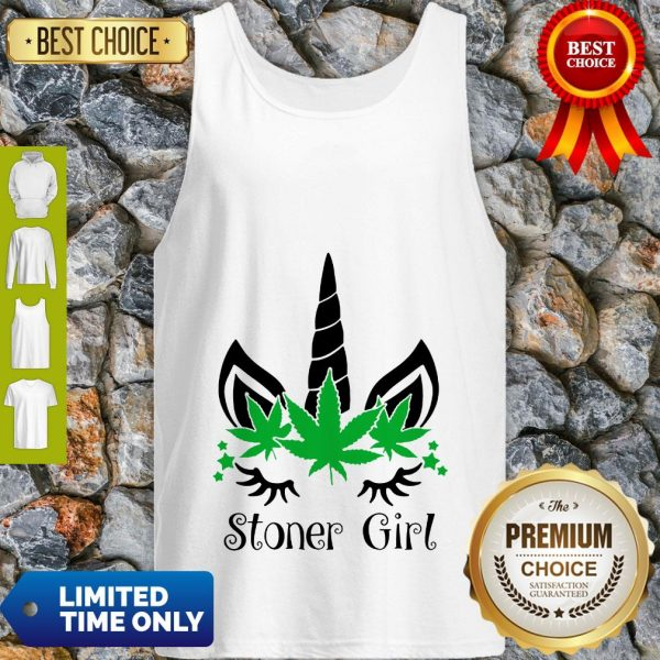 Unicorn Cannabis Marijuana Stoner Girl Tank Top