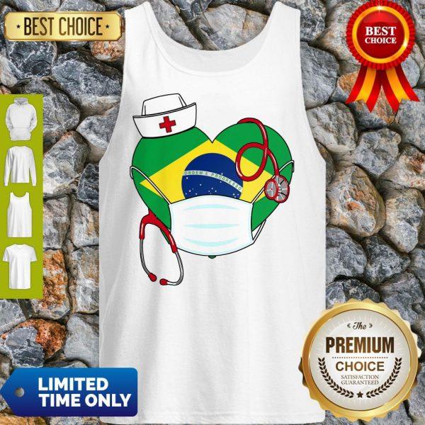 Official Nurse Brazil Heart Tank Top