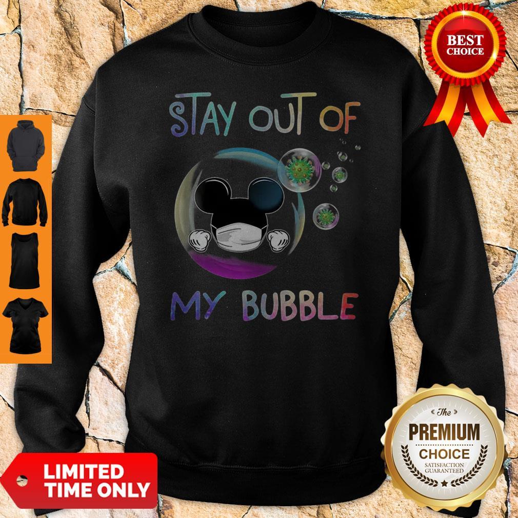 Mickey Mouse Mask Stay Out Of My Bubble Coronavirus Sweatshirt