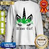 Unicorn Cannabis Marijuana Stoner Girl Sweatshirt