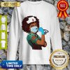 Official Strong Women Black Nurse Sweatshirt