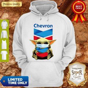 Baby Yoda Mask Chevron Coronavirus Hoodie