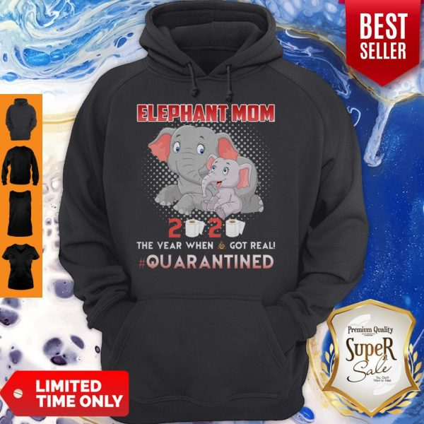 Elephant Mom 2020 The Year When Shit Got Real Quarantined Hoodie