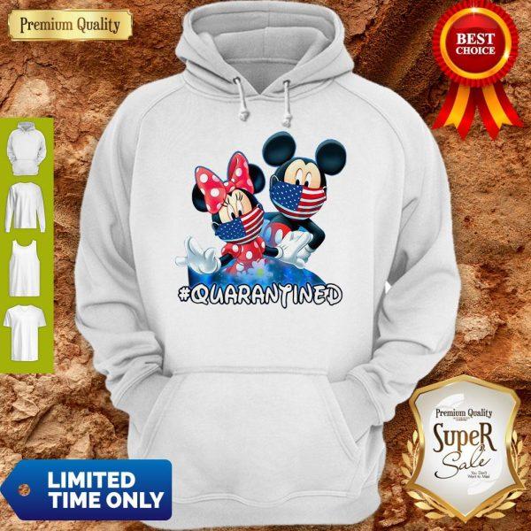Nice Mickey And Minnie Quarantined Hoodie