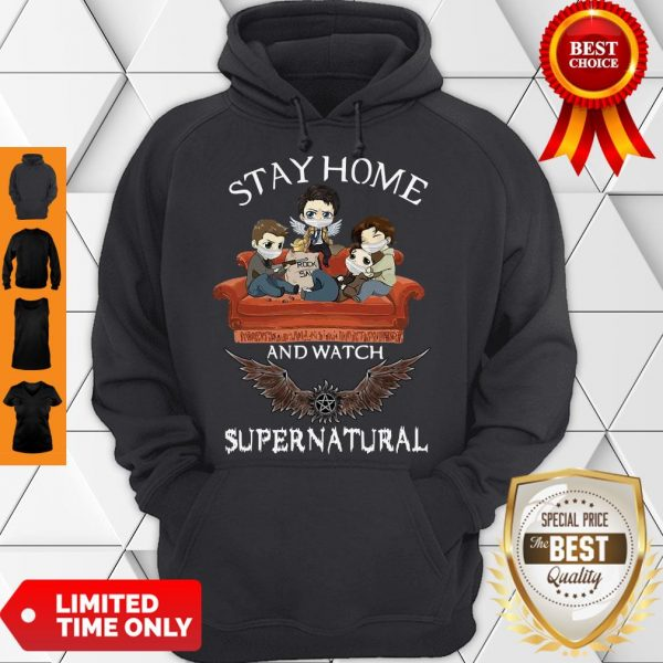 Premium Stay Home And Watch Supernatural Hoodie