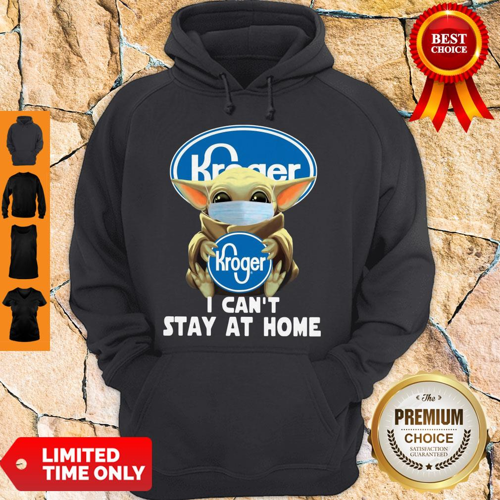 Baby Yoda Mask Hug Kroger I Can't Stay At Home Hoodie