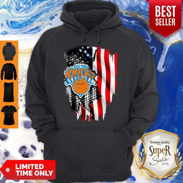 Official New York Knicks Inside American Flag Hoodie