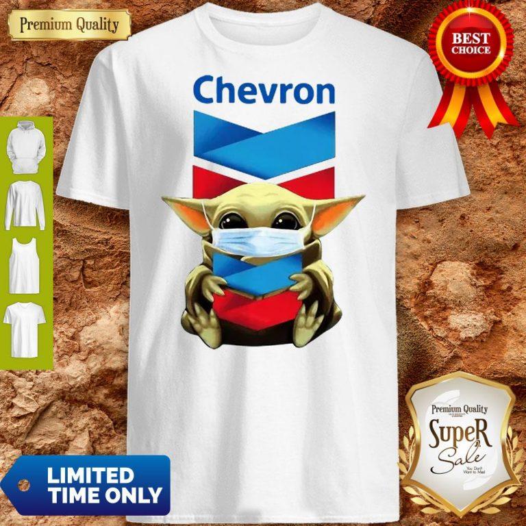 Baby Yoda Mask Chevron Coronavirus Shirt