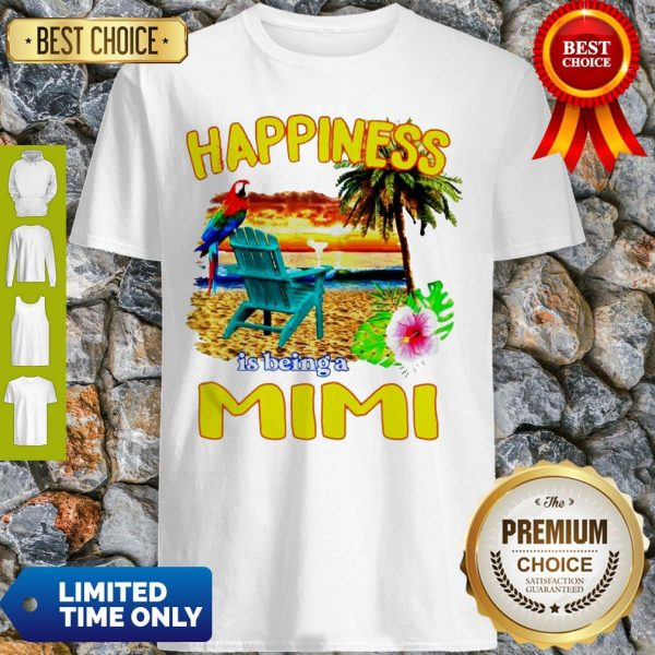 Cute Sunset Happiness Is Being A Mimi Shirt
