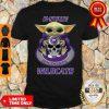Pretty Baby Yoda Hug Skull K-State Wildcats Shirt