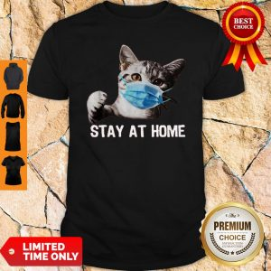 Official Nice Cat Mask Stay At Home Shirt