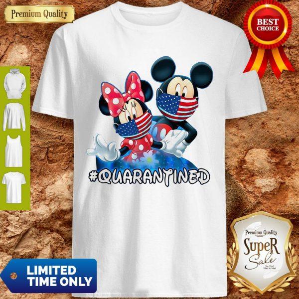 Nice Mickey And Minnie Quarantined Shirt