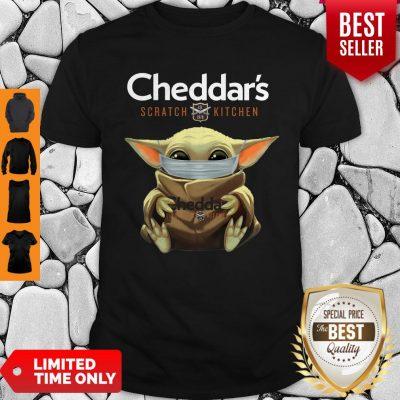 Good Baby Yoda Mask Cheddar's Scratch Kitchen Coronavirus Shirt