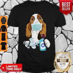 Good Basset Hound Face Mask Shirt