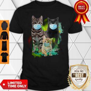Premium Cat Wear Face Mask Tee Shirt