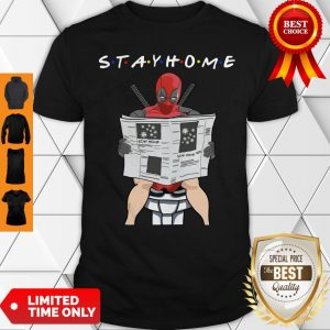 Premium Deadpool On Toilet Stay Home Shirt