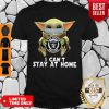 Star Wars Baby Yoda Mask Las Vegas Raiders I Can't Stay At Home Shirt
