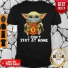 Star Wars Baby Yoda Mask Manchester United I Can't Stay At Home Shirt