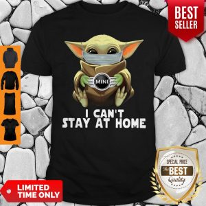 Star Wars Baby Yoda Mask Mini Countryman I Can't Stay At Home Shirt