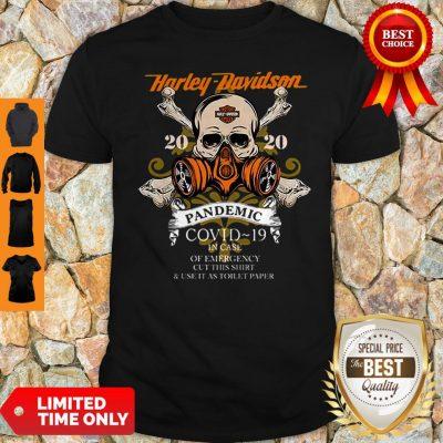 Skull Harley Davidson 2020 Pandemic COVID-19 In Case Of Emergency Shirt