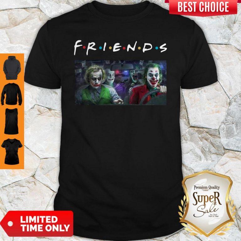 Friends Tv Show Versions Of Joker Team Driving Car Shirt