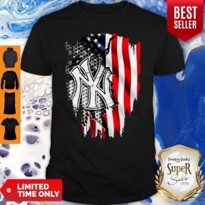 Official New York Yankees Inside American Flag Shirt