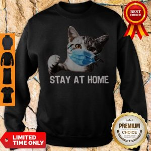 Official Nice Cat Mask Stay At Home Sweatshirt