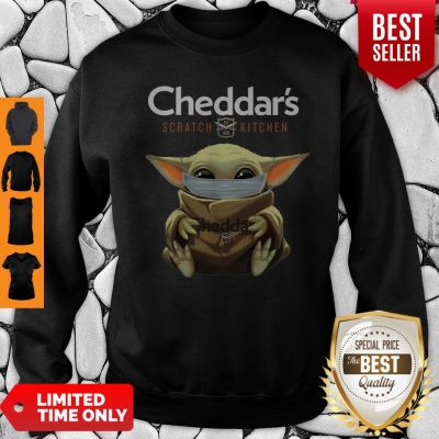 Good Baby Yoda Mask Cheddar's Scratch Kitchen Coronavirus Sweatshirt