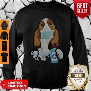 Good Basset Hound Face Mask Sweatshirt