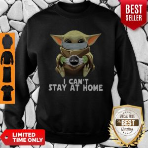 Star Wars Baby Yoda Mask Mini Countryman I Can't Stay At Home Sweatshirt