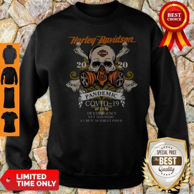 Skull Harley Davidson 2020 Pandemic COVID-19 In Case Of Emergency Sweatshirt