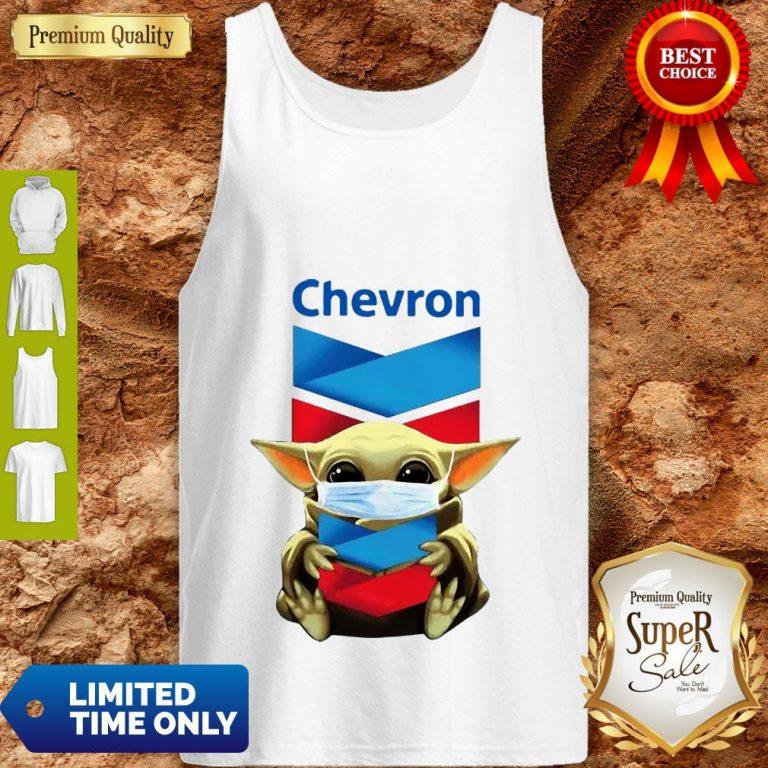 Baby Yoda Mask Chevron Coronavirus Tank Top