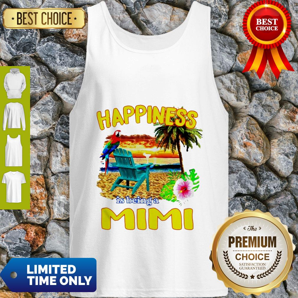 Cute Sunset Happiness Is Being A Mimi Tank Top