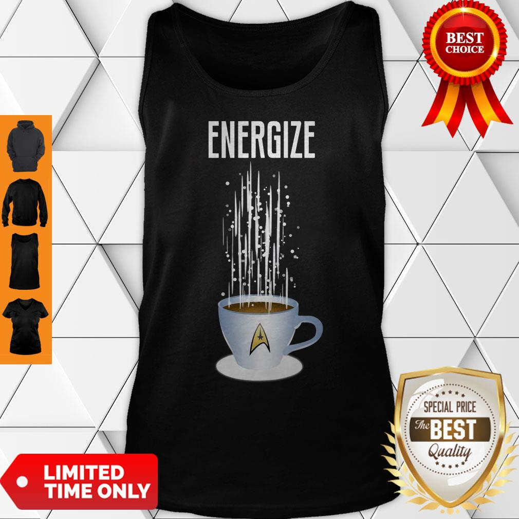 Premium Energize Coffee Star Trek Tank Top