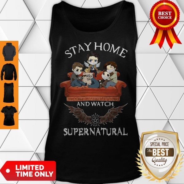 Premium Stay Home And Watch Supernatural Tank Top
