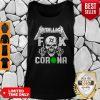 Funny Skull Metallica Fuck Coronavirus Tank Top