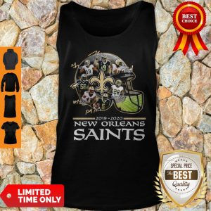 2019 – 2020 New Orleans Saints Team Player Signatures Tank Top