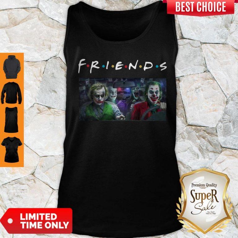 Friends Tv Show Versions Of Joker Team Driving Car Tank Top