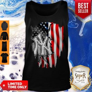 Official New York Yankees Inside American Flag Tank Top