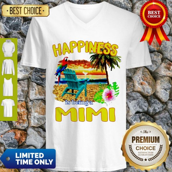 Cute Sunset Happiness Is Being A Mimi V-Neck